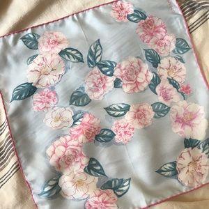 Chanel cc camillia silk scarf 16.5×16.5